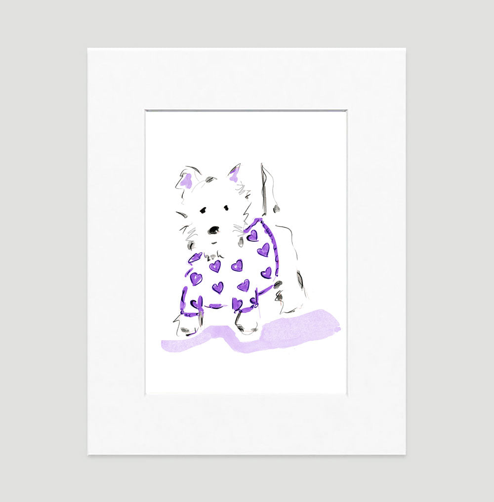 Willie Westie Art Print - Dog Illustrations Wall Art Collection-Di Lewis