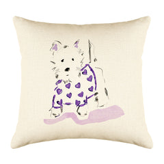 Willie Westie Throw Pillow Cover