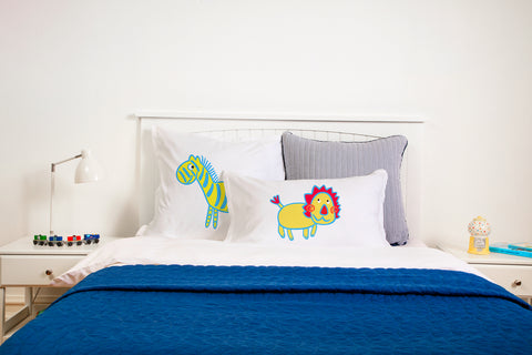 Whats Up Kids Pillow, Di Lewis Boys Bedding, Girls Bedding