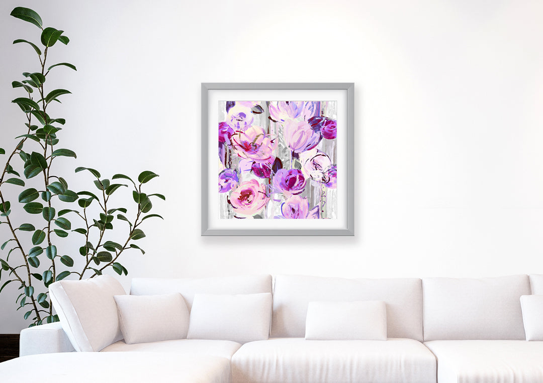 Delaunay Purple Grey Art Print - Impressionist Art Wall Decor Collection-Di Lewis