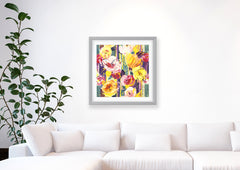 Delaunay Pink Gold Impressionist Art Print Di Lewis Living Room Wall Decor