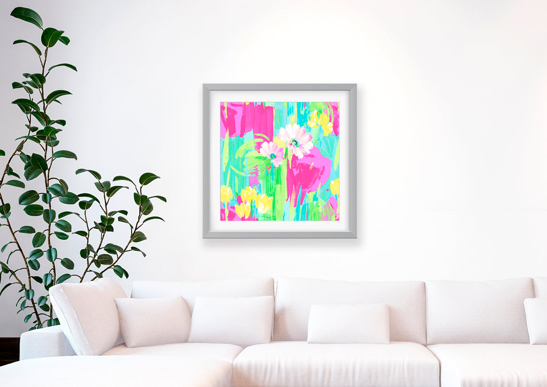 Giselle Art Print - Floral Art Wall Decor Collection-Di Lewis