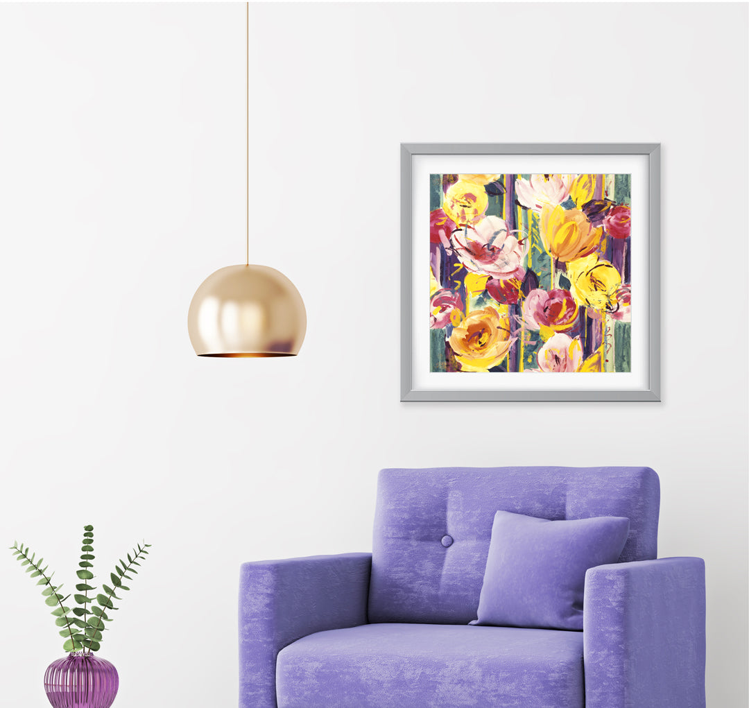Delaunay Pink Gold Art Print - Impressionist Art Wall Decor Collection