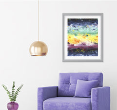 Elements Abstract Art Print Di Lewis Living Room Wall Decor