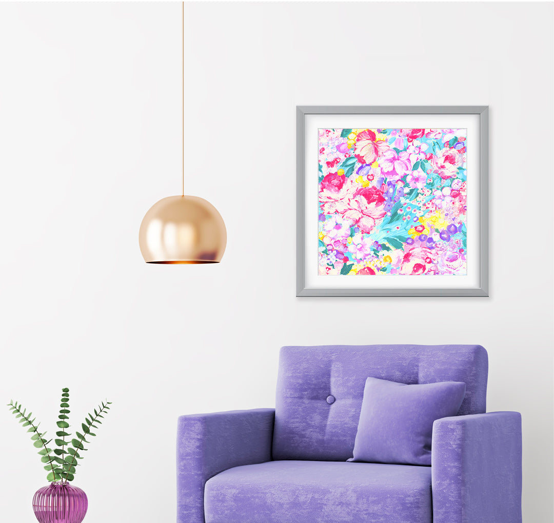 Fantasia Impressionist Art Print Di Lewis Living Room Wall Decor