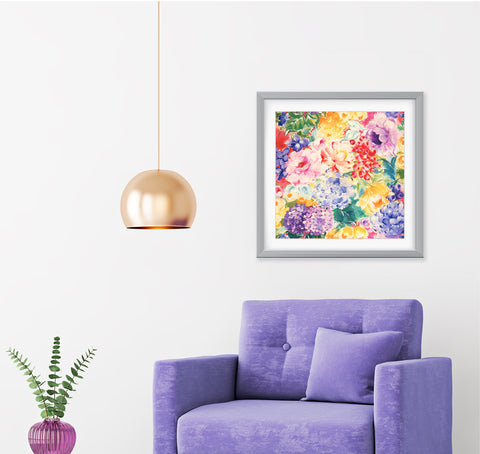 In Full Bloom Impressionist Art Print Di Lewis Living Room Wall Decor