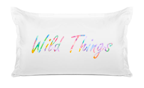 Wild Things quote pillow case Di Lewis bedroom decor