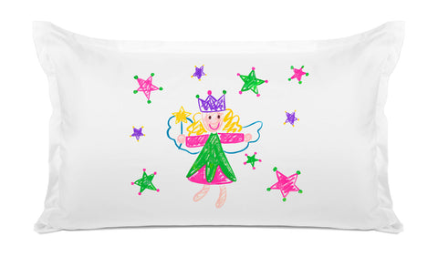 Wish Upon A Star Pink & Green - Kids Personalized Pillowcase Collection-Di Lewis