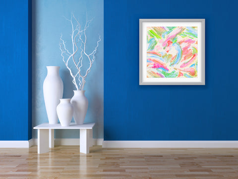 Swish Abstract Art Print Di Lewis Living Room Wall Decor