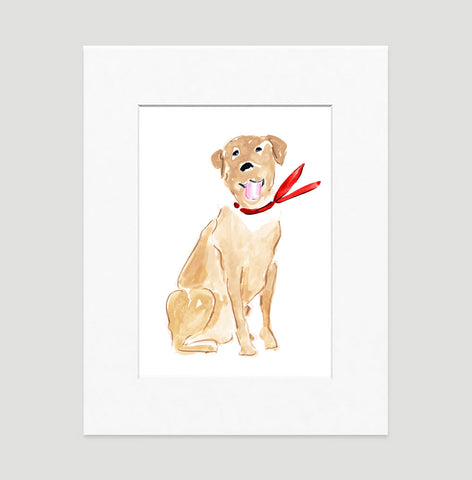 Larry Labrador Art Print - Dog Illustrations Wall Art Collection-Di Lewis