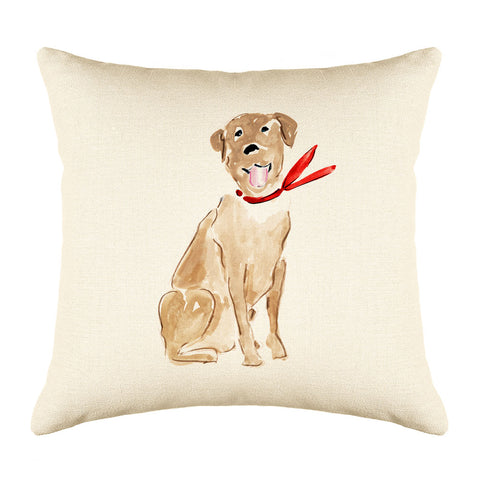 Larry Labrador Throw Pillow Cover - Dog Illustration Throw Pillow Cover Collection