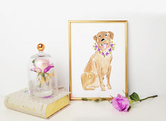Lady Labrador Art Print - Dog Illustrations Wall Art Collection-Di Lewis