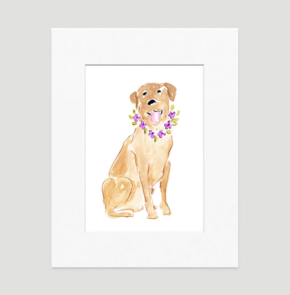 Lady Labrador Art Print - Dog Illustrations Wall Art Collection