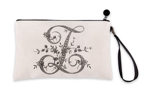Vintage French Monogram Letter Z Makeup Bag