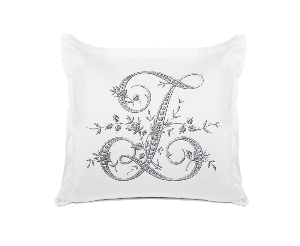 Vintage French Monogram Letter Z Pillowcase