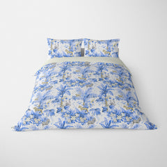 DECORATIVE DUVET COVERS & BEDDING SETS ZAMBIA AZURE BLUE - ANIMAL DESIGN - HYPOALLERGENIC