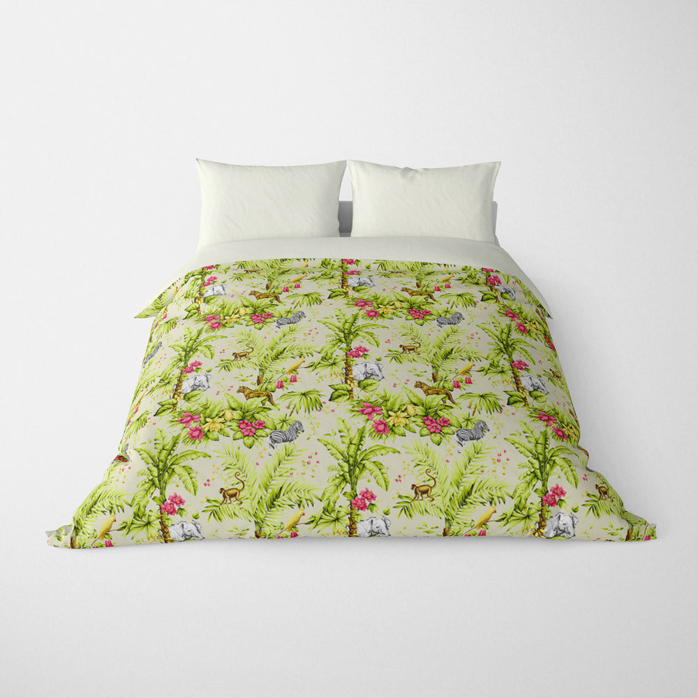 DECORATIVE DUVET COVERS & BEDDING SETS ZAMBIA FLAMINGO - ANIMAL DESIGN - HYPOALLERGENIC