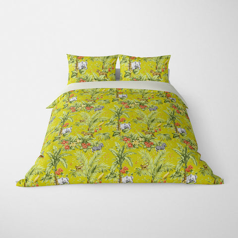 DECORATIVE DUVET COVERS & BEDDING SETS ZAMBIA JONQUIL - ANIMAL DESIGN - HYPOALLERGENIC