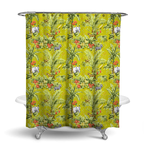ZAMBIA DECORATIVE SHOWER CURTAIN JONQUIL – SHOWER CURTAIN COLLECTION