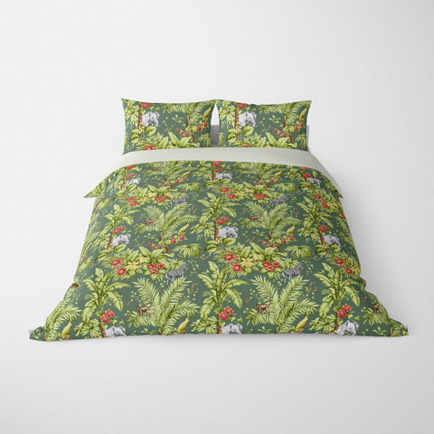 DECORATIVE DUVET COVERS & BEDDING SETS ZAMBIA LEAF - ANIMAL DESIGN - HYPOALLERGENIC