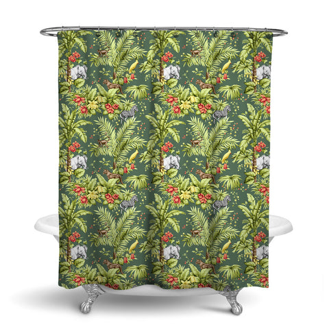 ZAMBIA DECORATIVE SHOWER CURTAIN LEAF – SHOWER CURTAIN COLLECTION