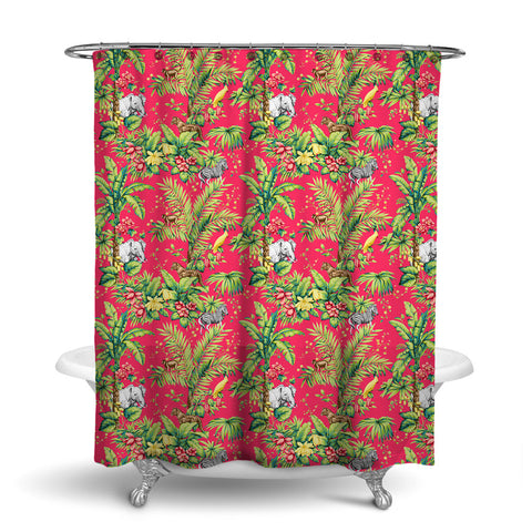 ZAMBIA DECORATIVE SHOWER CURTAIN TROPIC – SHOWER CURTAIN COLLECTION
