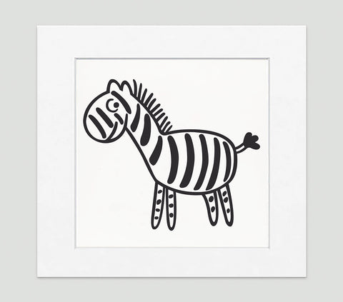 Zebra Art Print - Kids Wall Art Collection-Di Lewis