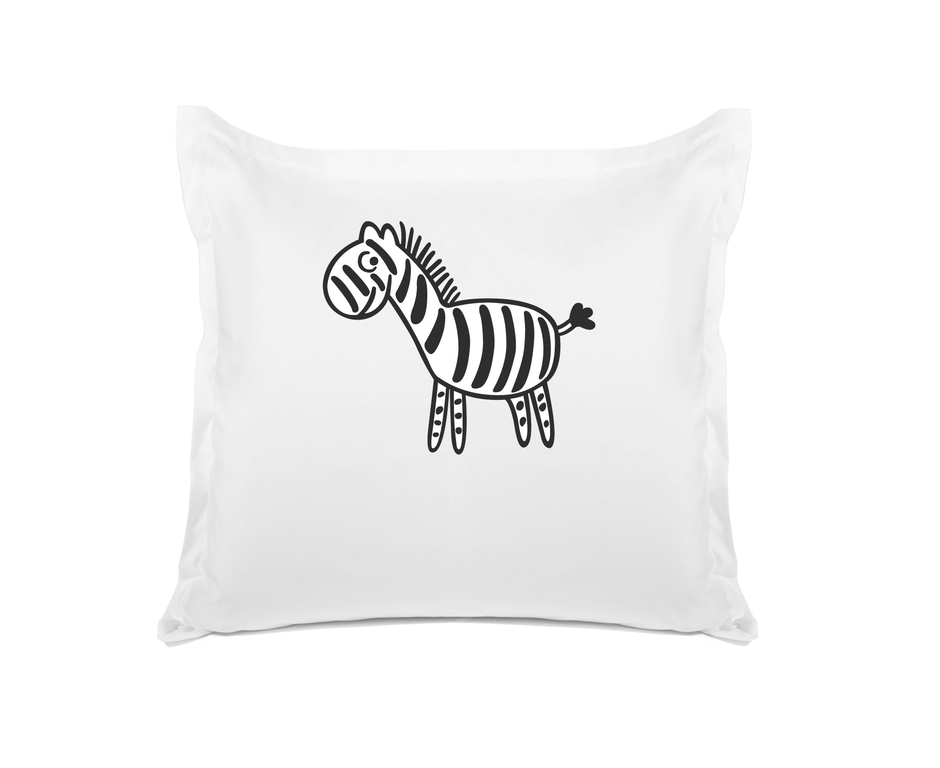 Zebra Personalized Kids Euro Sham, Di Lewis Boys Bedding, Girls Bedding
