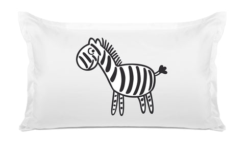 Zebra - Personalized Kids Pillowcase Collection-Di Lewis
