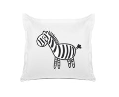 Zebra Kids Euro Sham, Di Lewis Boys Bedding, Girls Bedding