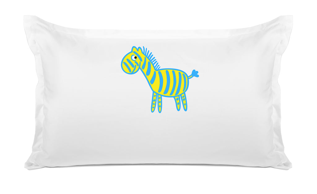 Zebra Personalized Kids Pillow, Di Lewis Boys Bedding, Girls Bedding