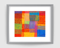 Zigzag Multi Art Print - Abstract Art Wall Decor Collection-Di Lewis