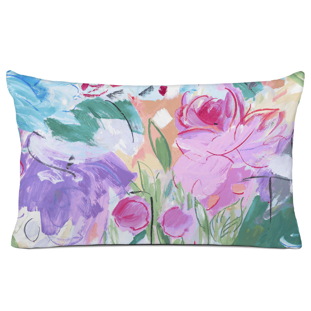 FLORAL PILLOW SHAM - BEDDING - PRINTEMPS MAGENTA - FLORAL DESIGN