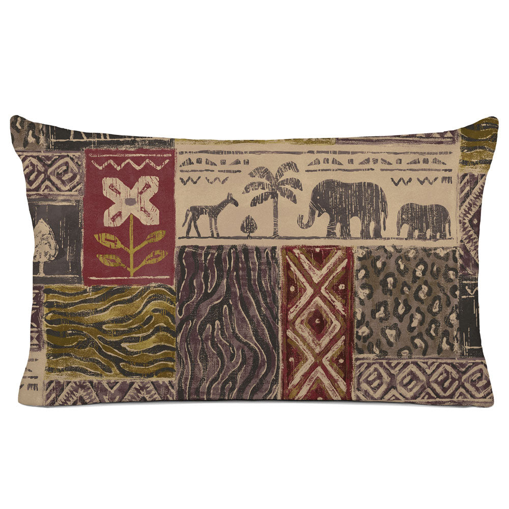 DECORATIVE PILLOW SHAM - BEDDING - SAFARI BRICK - ANIMAL DESIGN