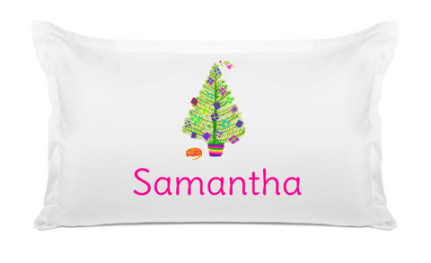 Multicolor Christmas - Kids Personalized Pillowcase Collection