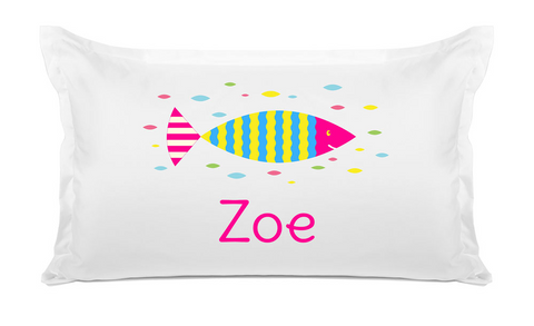 Colorful Fish - Personalized Kids Pillowcase Collection