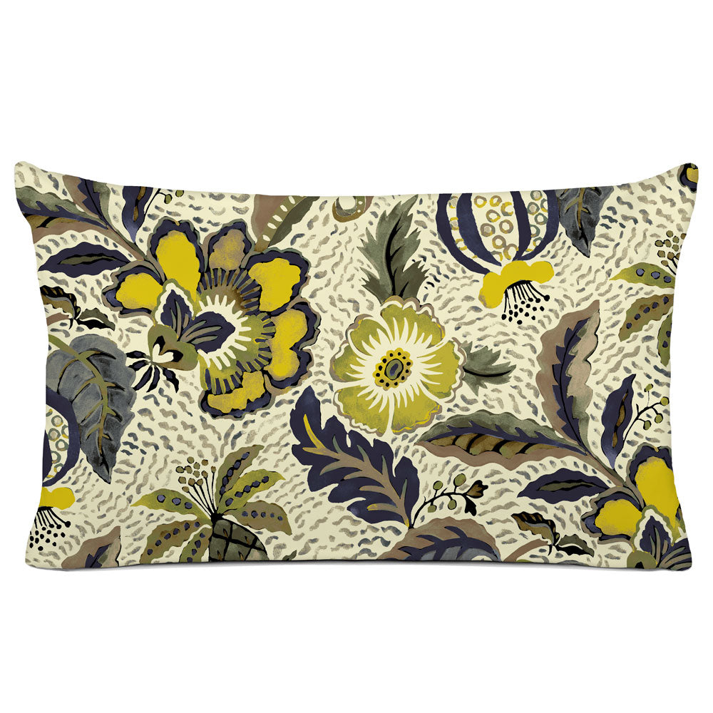 DECORATIVE PILLOW SHAM - BEDDING - LUAU DUSK - FLORAL DESIGN