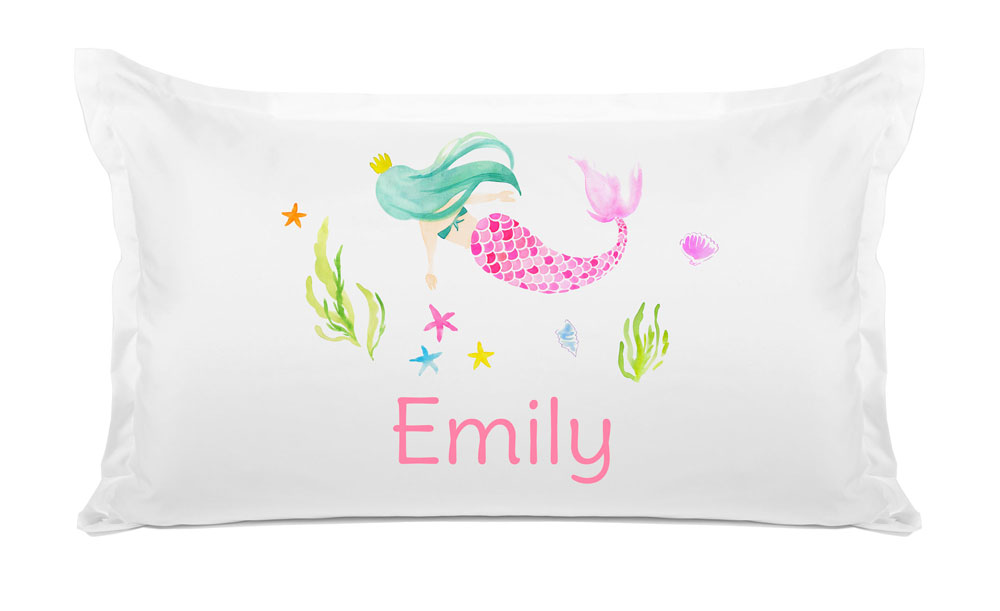 Colorful Mermaid - Personalized Kids Pillowcase Collection