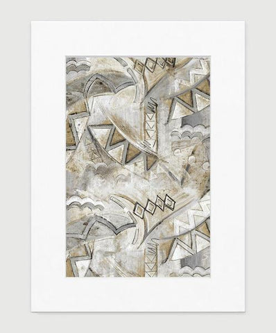 Opera Art Print - Abstract Art Wall Decor Collection - Grey & Tan