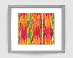 Runway Art Print - Abstract Art Wall Decor Collection - Red & Orange