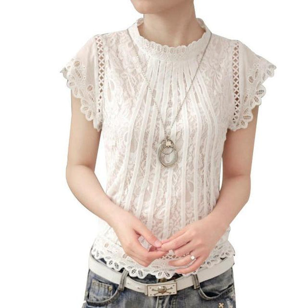 Alejandra Lace Blouse-August Bee