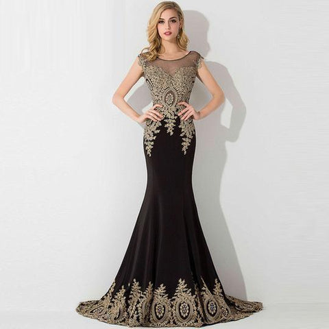 Alexis Embellished Mermaid Gown-August Bee
