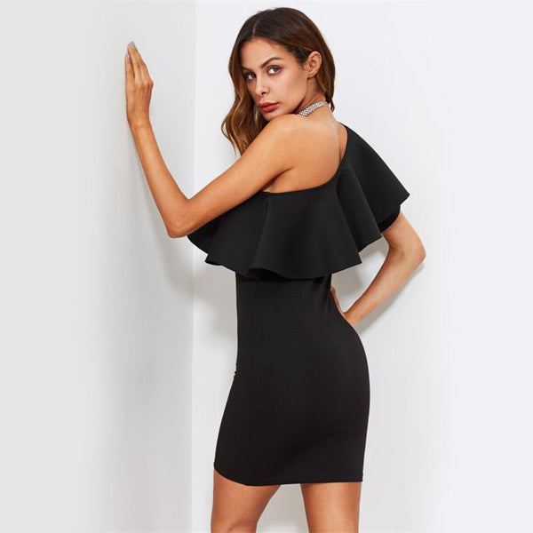 Amelia One Shoulder Dress-August Bee