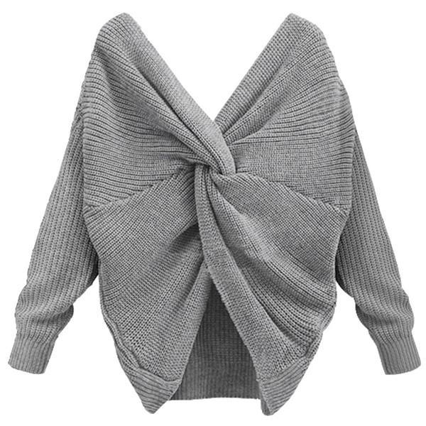 Ashley Reversible Tie Knot Sweater-August Bee