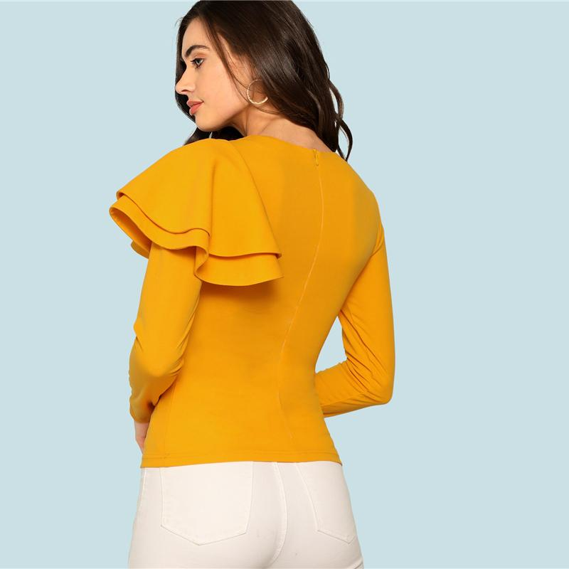 d5c9a6c894470 ... Cypress Ruffle One Sleeve Top-August Bee ...