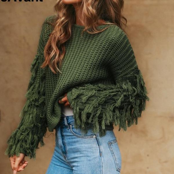Daydream Tassel knitted Sweater-August Bee