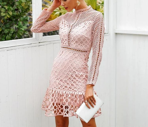 Giovanna Mesh Dress-August Bee