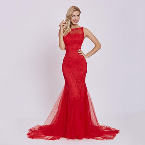 Gloria Sweep Train Evening Gown-August Bee