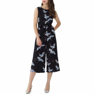 Harper print jumpsuit-August Bee