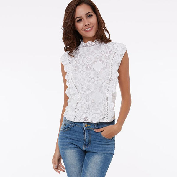 Ivetta Turtleneck Lace Top-August Bee
